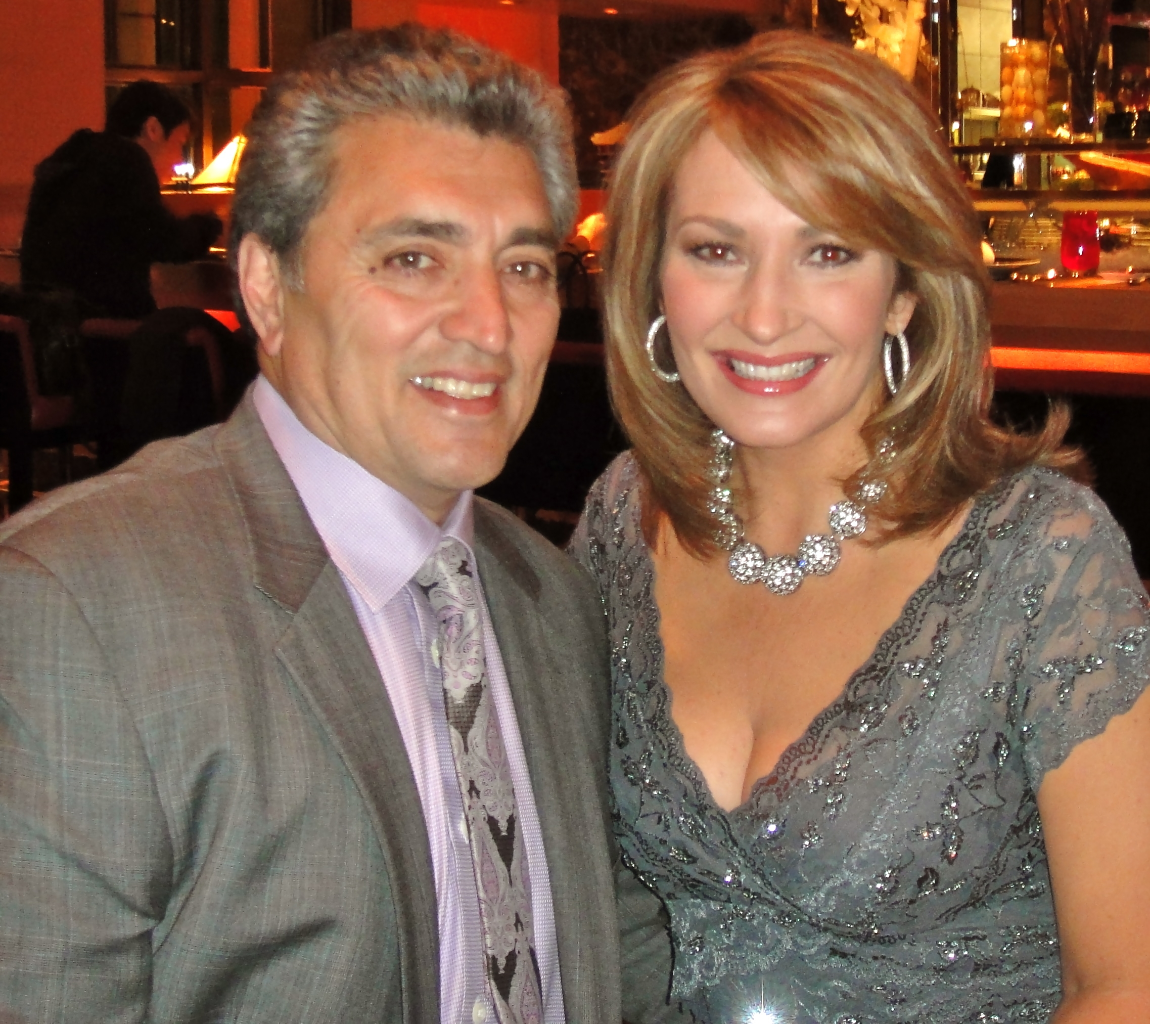 "The ERA (Electronic Retail Association) the prestigious ""Best Television Presenter"" award winner Colleen lopez with her husband Carlos"