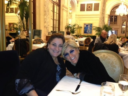 Laura Geller with fellow QVC vendor Suze Orman