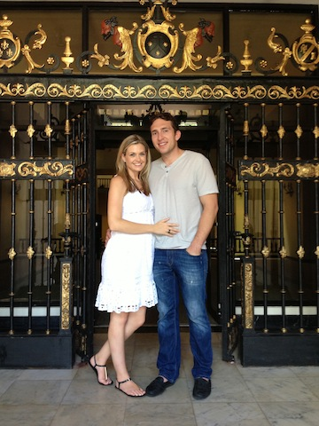 Colleen Lopez's son Carlos and his bride-to-be in Puerto Rico