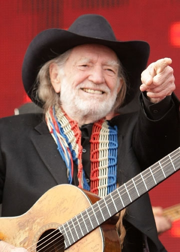 Singer Willie Nelson has a birthday one day after us, on April 29