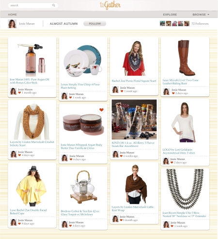 QVC's new social commerce platform, toGather