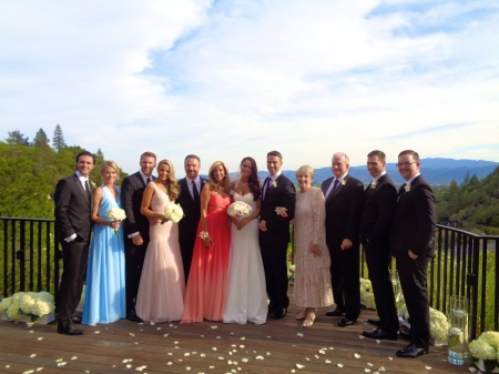 Joy Mangano, her daughter and the wedding party