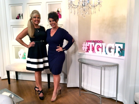 Nikki and Misty Mills on the set of their new Friday night JTV show