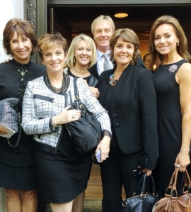 The QVC crew at Joan's memorial