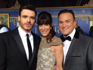 "HSN host Bobbi Ray Carter and Bill Green meet Prince Charming, Richard Madden of ""Games of Thrones"" fame"
