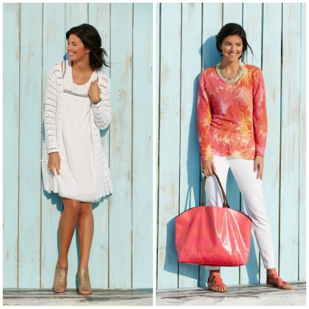 Two of Sigrid Olsen's beachy HSN offerings