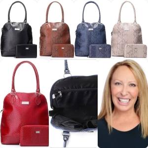 Suzie Hammond and her TravelRight luggage