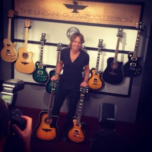 Keith Urban and his HSN guitars